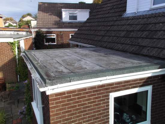 Flat roofing before Holdsworth Roofing