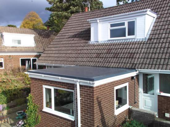 Refurbishment of flat roof